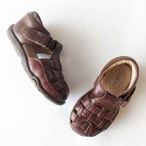 Stride Rite Toddler Leather fisherman sandals, 5.5